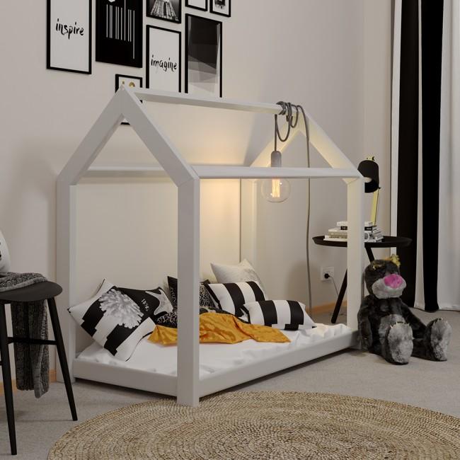 vicco hausbett kinderhaus kinderbett wiki 70x140cm holz wei. Black Bedroom Furniture Sets. Home Design Ideas