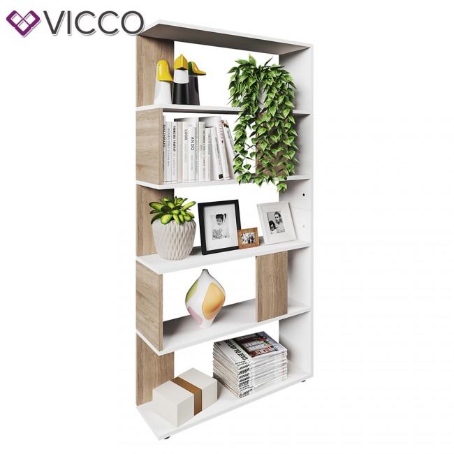 vicco raumteiler raumtrenner b cherregal standregal aktenregal hochregal aufbewahrung regal. Black Bedroom Furniture Sets. Home Design Ideas