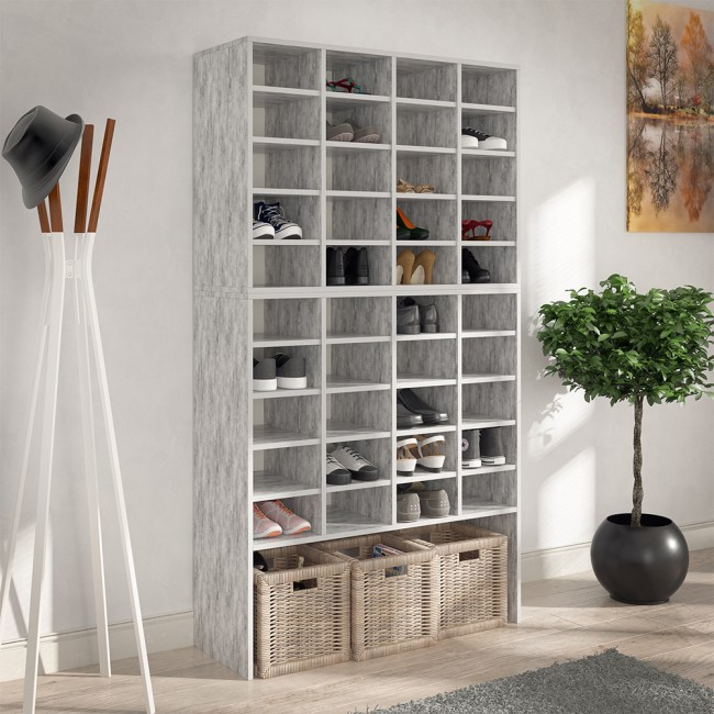 schuhschrank schrank schuhregal schuhst nder schuhe schuhablage standregal beton. Black Bedroom Furniture Sets. Home Design Ideas