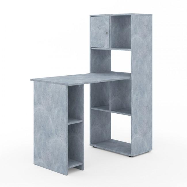 vicco schreibtisch regalkombination 114 x 60 cm grau beton. Black Bedroom Furniture Sets. Home Design Ideas