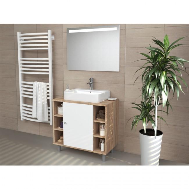 vicco waschbeckenunterschrank fynn 60 cm eiche sonoma. Black Bedroom Furniture Sets. Home Design Ideas