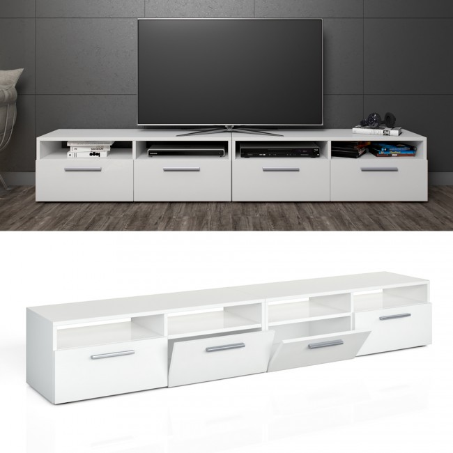 vicco lowboard set diego 190 cm wei hochglanz. Black Bedroom Furniture Sets. Home Design Ideas