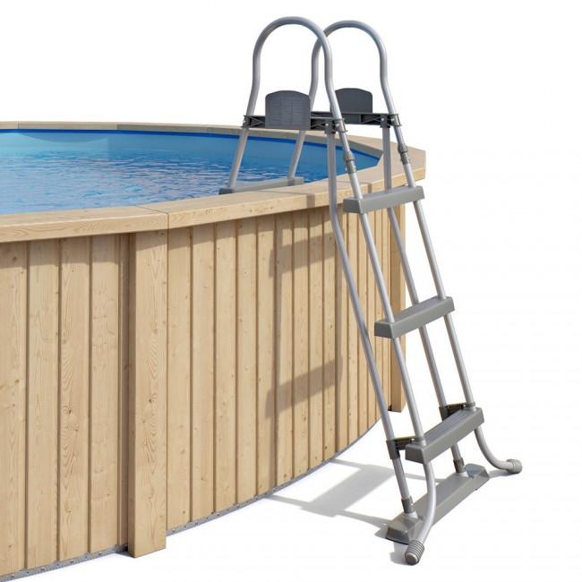 Claas holzpool pool mit stahlwand inkl sandfilteranlage for Pool mit stahlwand