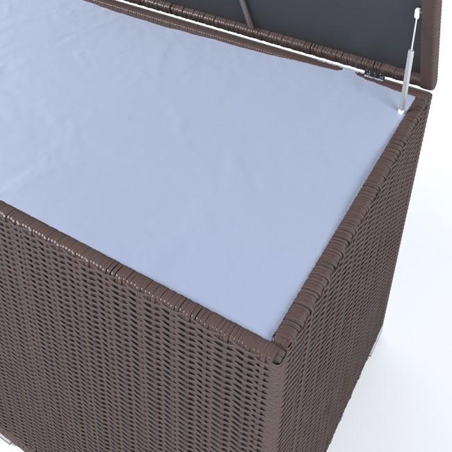 xxl kissenbox 950l braun polyrattan wasserdicht. Black Bedroom Furniture Sets. Home Design Ideas