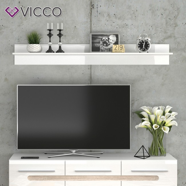 vicco wandregal byanko wei hochglanz. Black Bedroom Furniture Sets. Home Design Ideas