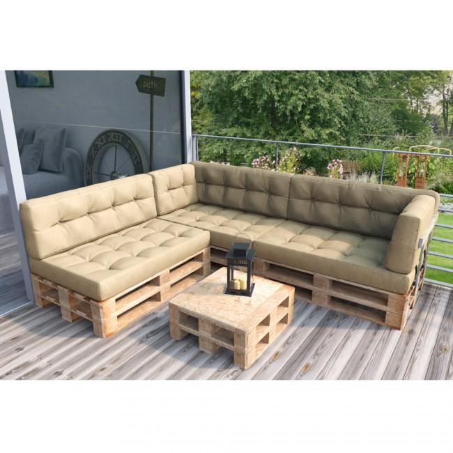 palettenkissen set sitz seitenkissen beige. Black Bedroom Furniture Sets. Home Design Ideas