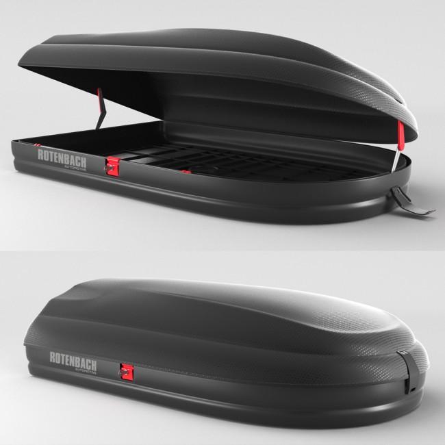 rotenbach dachbox gep ckbox dachkoffer autobox 320 l. Black Bedroom Furniture Sets. Home Design Ideas