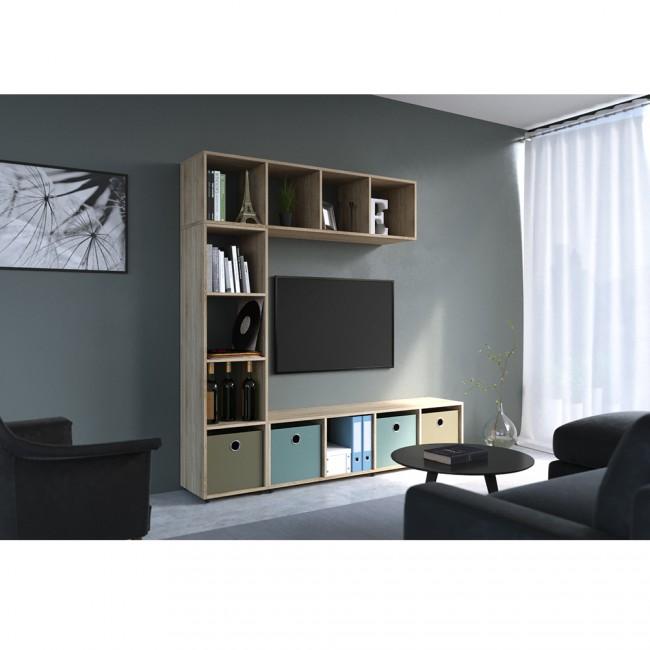 vicco raumteiler ludus 140 x 35 cm eiche sonoma. Black Bedroom Furniture Sets. Home Design Ideas