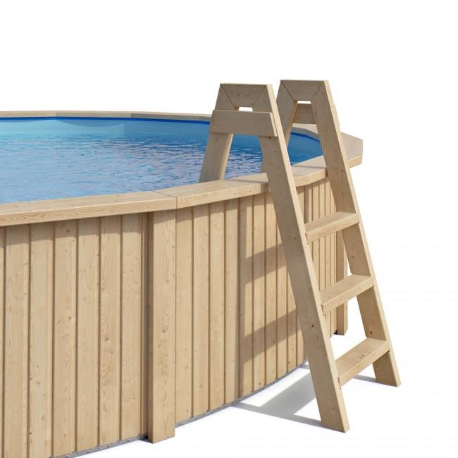 claas holzpool pool mit stahlwand inkl sandfilteranlage. Black Bedroom Furniture Sets. Home Design Ideas
