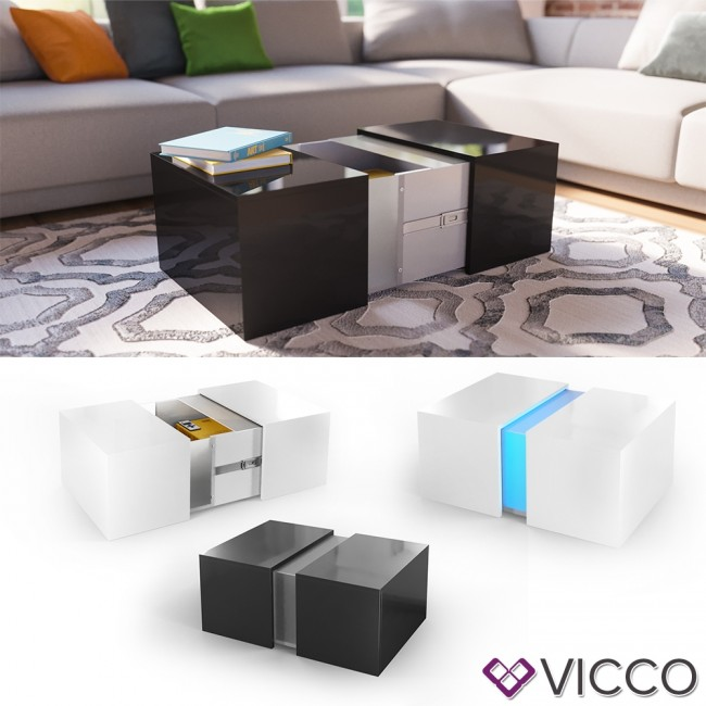 vicco led couchtisch dandy