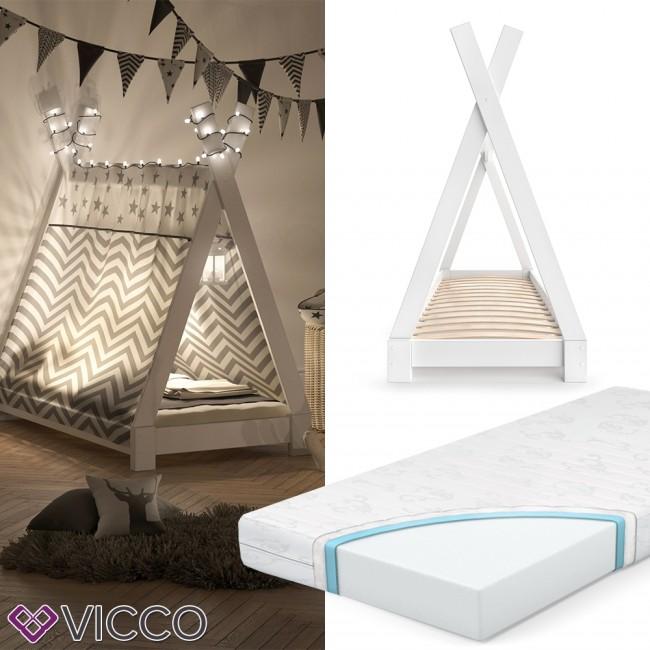 Vicco Kinderbett Tipi Indianer Bett Kinderhaus Zelt Holz Hausbett