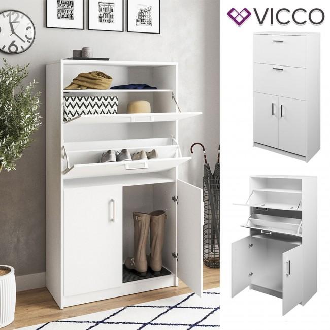 VICCO Schuhkipper Venezia 3 Fächer Weiß