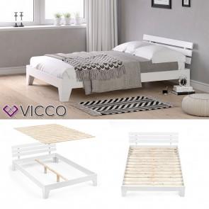 VICCO Futonbett KORFU weiß 140x200