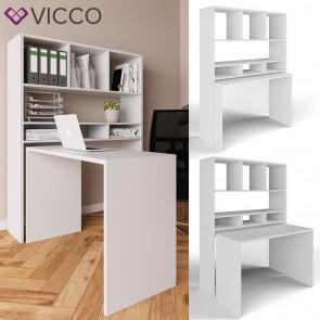 Vicco Schreibtisch Oskar - Regalkombination mit getrennt nutzbarem Schreibtisch