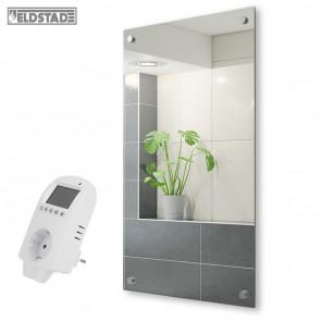 ELDSTAD Spiegel-Infrarotheizung 450 Watt +Thermostat Heizpaneel Wandheizung Heizung