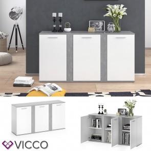 Vicco Sideboard NOVELLI weiß beton