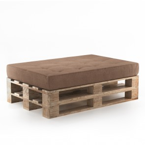 Palettenkissen Set Sitzkissen+ Paletten Taupe
