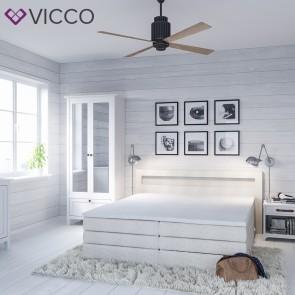 Design Boxspringbett mit Bettkasten Doppelbett Ehebett weiß-beige LED