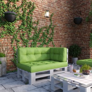 Palettenkissen Set Sitz-, Rücken- und Seitenkissen Grün
