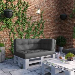 Palettenkissen Set Sitz-, Rücken- und Seitenkissen Anthrazit