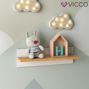 VICCO Wandregal MALIA weiß 70x20