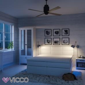 Boxspringbett LED Doppelbett weiß 180 x 200