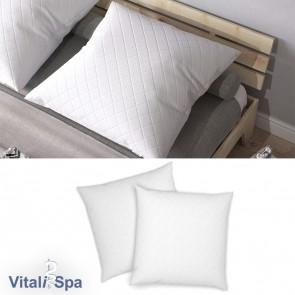 VitaliSpa 2er Set Kopfkissen Bettkissen 80x80x12cm / hypoallergen / weiß