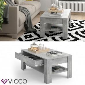 VICCO Couchtisch Milan mit Schublade 100 x 60 cm in Betongrau