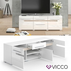 VICCO Lowboard BYANKO weiß hochglanz