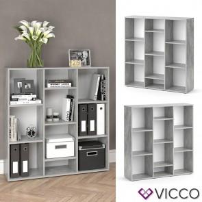VICCO Raumteiler LYSANDER - 10 Fächer
