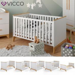 VICCO Baby- und Kinderbett MALIA weiß