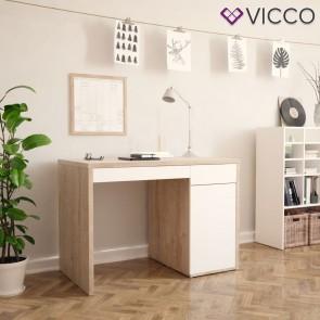 VICCO Schreibtisch Sorento sonoma weiß Hochglanz
