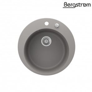 Bergström Granit Spüle Küchenspüle Einbauspüle Spülbecken Rund 505mm Beton