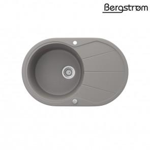 Bergström Granit Spüle Küchenspüle Einbauspüle Spülbecken 780x500mm Beton