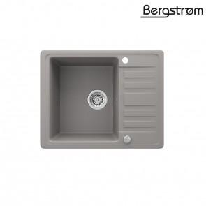 Bergström Granit Spüle Küchenspüle Einbauspüle Spülbecken 575x460mm Beton