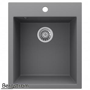 Bergström Granit Spüle Küchenspüle Einbauspüle Spülbecken 425x500mm Grau