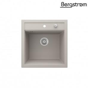 Bergström Granit Spüle Küchenspüle Einbauspüle Spülbecken 490x500mm Beige