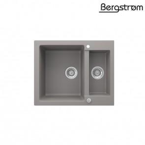 Bergström Granit Spüle Küchenspüle Einbauspüle Spülbecken 580x400mm Beton