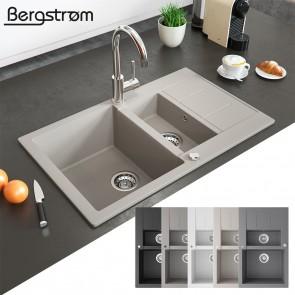 Bergström Granit Spüle Küchenspüle Einbauspüle Spülbecken 800x500mm