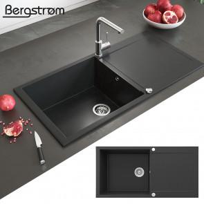 BERGSTRÖM XXL Granit Spüle TESA Schwarz 1000x500mm