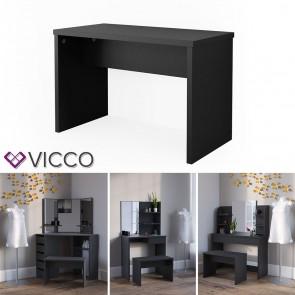 VICCO Universalhocker Bank schwarz - Frisiertisch Kommode Spiegel