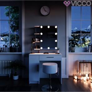 VICCO Schminktisch Fynnia mit LED-Beleuchtung und Hocker