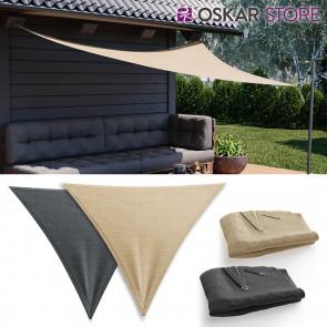OSKAR Sonnensegel Dreieck 3x3x3m Sonnenschutz Windschutz UV-Schutz HDPE