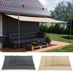 OSKAR Sonnensegel Rechteck Sonnenschutz Windschutz UV-Schutz Polyester