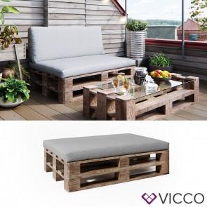 Vicco Palettenkissen Sitzkissen Grau