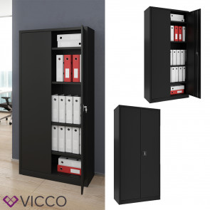 VICCO Aktenschrank 180 cm schwarz