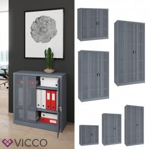 VICCO Aktenschrank Metall Grau