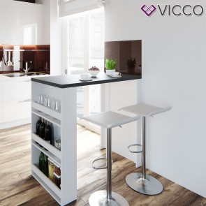 VICCO Bartisch weiß anthrazit