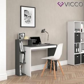 VICCO Schreibtisch LEO anthrazit weiß