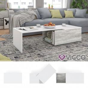 VICCO Couchtisch LEO Beton Weiß
